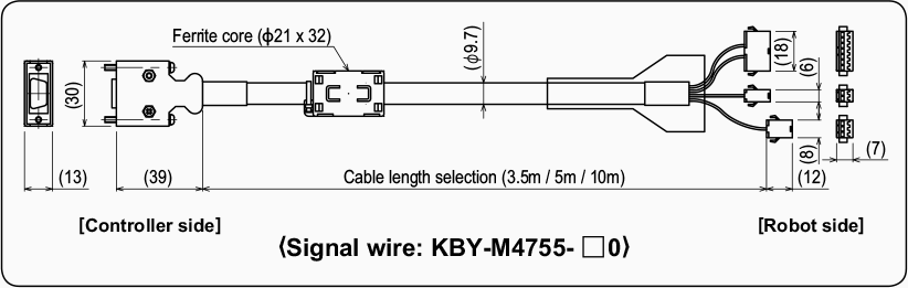 Signal wire : KBY-M4755-□0