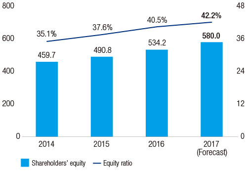 Shareholders' equity/Equity ratio
