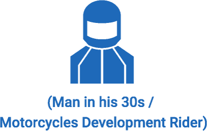 (Man in his 30s / Motorcycles Development Rider)
