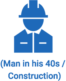 (Man in his 40s / Construction)