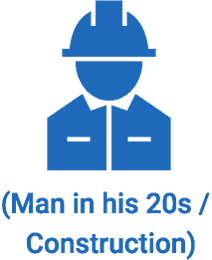 (Man in his 20s / Construction)