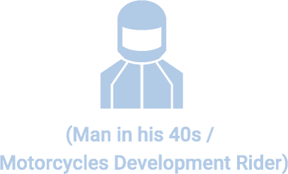 (Man in his 40s / Motorcycles Development Rider)