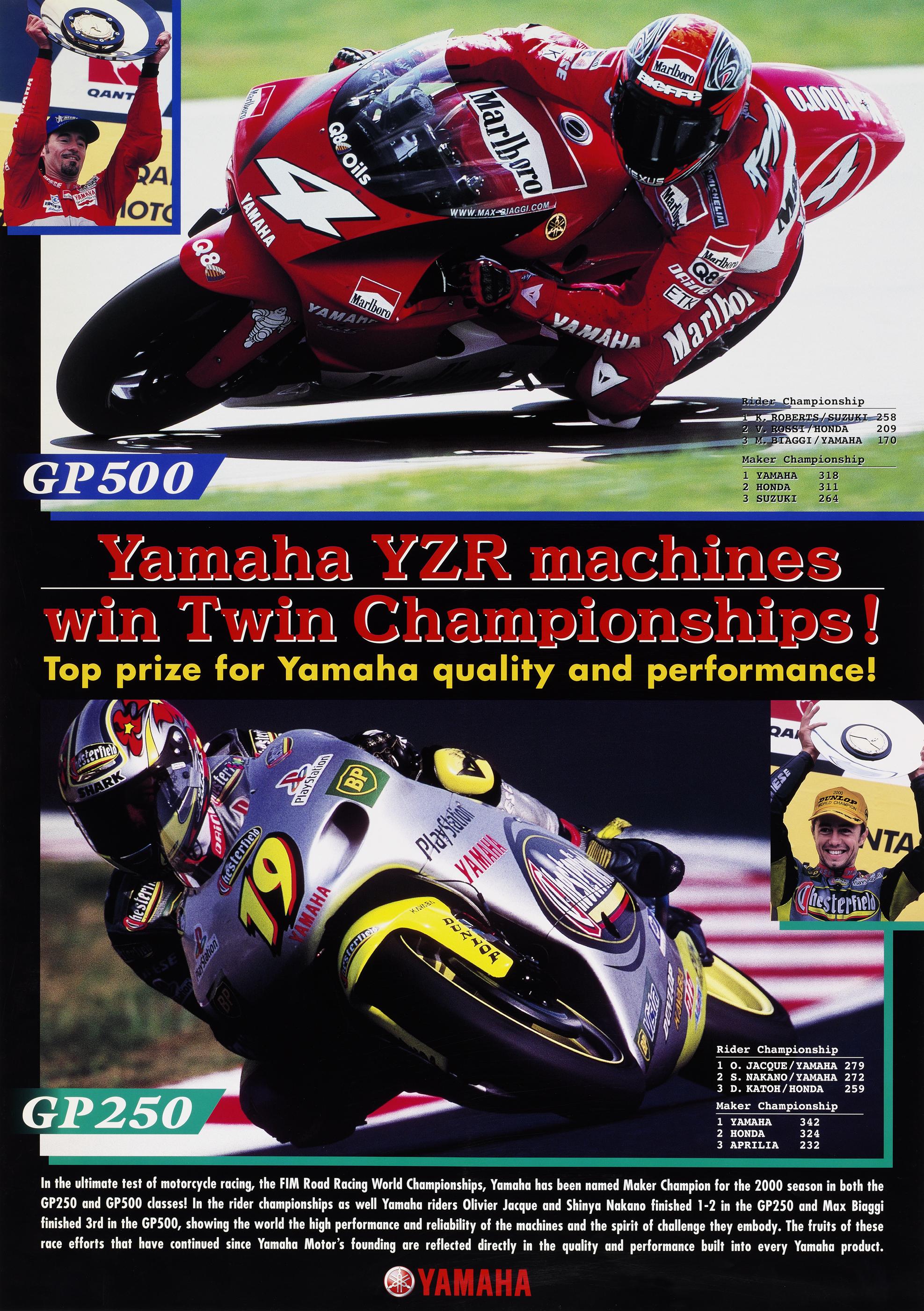 Poster Racing Information Yamaha Motor Co Ltd