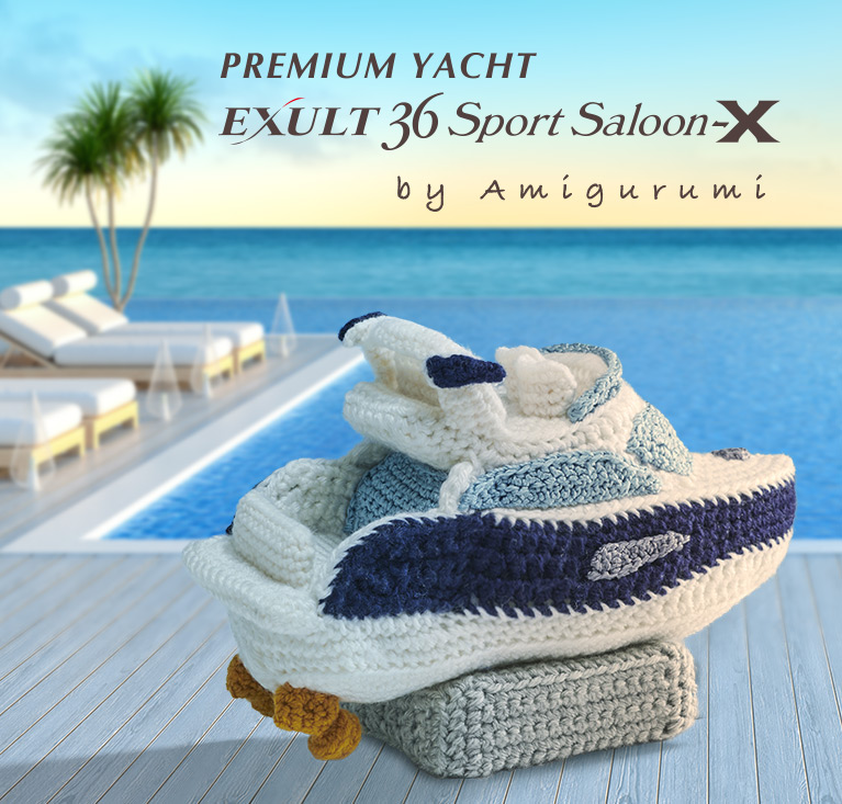 Premium Yacht (EXULT36 Sports Saloon) made by amigurumi