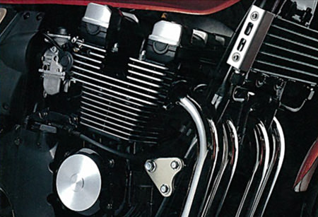 The XJR400's air-cooled, 4-valve engine (1993 year model)