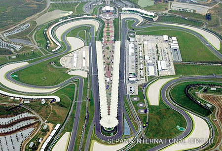 Sepang International Circuit This world-class racetrack located on the outskirts of Kuala Lumpur hosts the Malaysia round of MotoGP as well as the official pre-season tests.